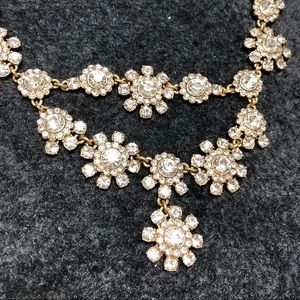 J Crew Gold and CZ Necklace.